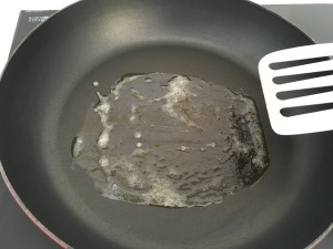 Butter on pan